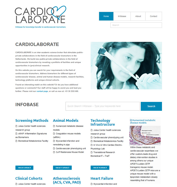 Cardiolaborate homepage