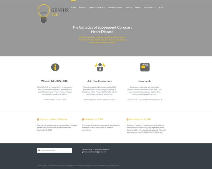 Genius CHD homepage