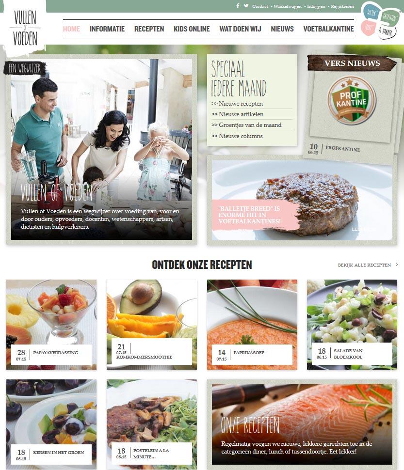 Vullen of voeden Website