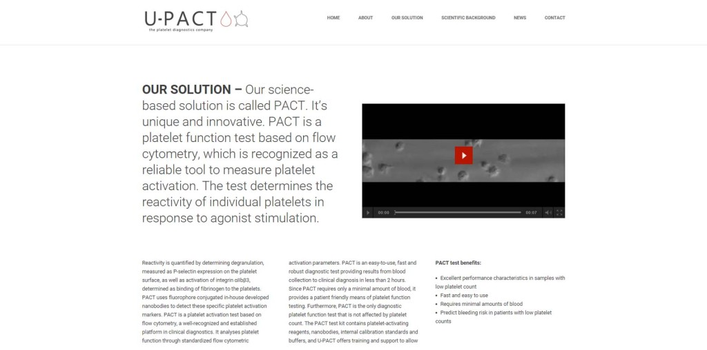 U-PACT website 4